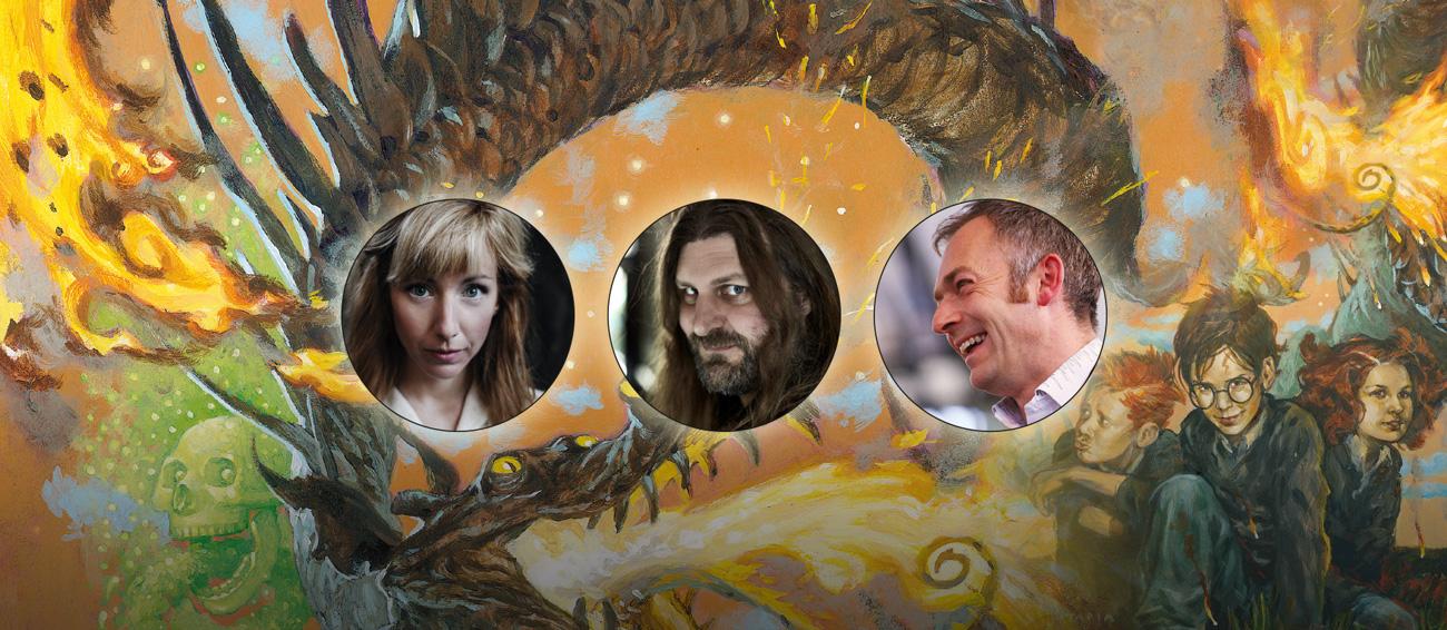 Illustration Av Harry Potter Med Foton På Sabina Zweiacker, Orvar Säfström Och Charles Hazlewood
