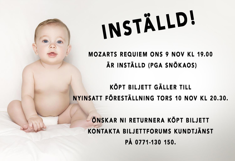 MOZARTS REQUIEM ONS 9 NOV KL 19.00 ÄR INSTÄLLD